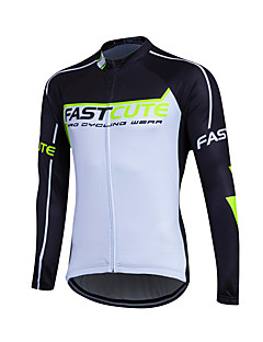 Fastcute® Cyklodres Pánské Dlouhé rukávy Jezdit na kole Zahřívací / Větruvzdorné Vrchní část oděvu Fleece Klasický Zima Cyklistika/Kolo