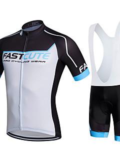 Fastcute® Camisa com Bermuda Bretelle Mulheres / Homens / Crianças / Unissexo Manga Curta MotoRespirável / Secagem Rápida / Permeável á
