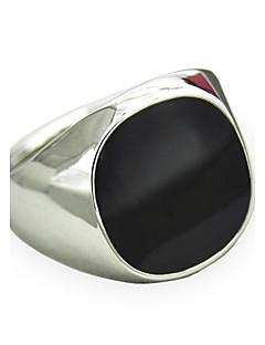 Pánské Prsteny s kamenem Safír Barva ozdobného kamene Přírodní černá Přizpůsobeno bižuterie Módní Retro Punkový styl minimalistický styl