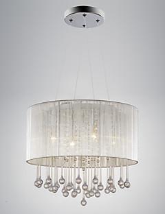 Lumini pandantiv ,  Modern/Contemporan Tobă Galvanizat Caracteristică for Cristal Metal Sufragerie Dormitor
