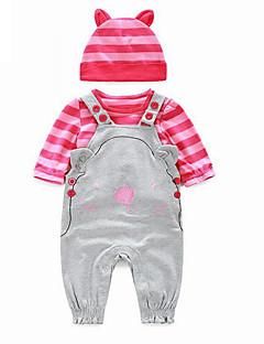 Baby Fritid/hverdag Tøysett Ensfarget-Bomull-Vår / Høst-Rosa