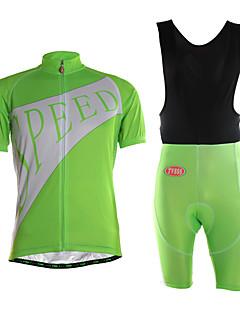 TVSSS חולצת ג'רסי ומכנס קצר ביב לרכיבה לגברים שרוול קצר אופנייםייבוש מהיר לביש חדירות גבוהה לאוויר (מעל 15,000 גרם) חומרים קלים 3D לוח בד