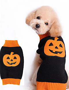 Cat / Dog Costume / Sweater / Outfits Black Dog Clothes Winter Pumpkin Cosplay / Halloween