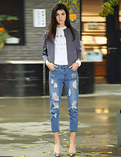 Damen Hose - Punk & Gothic Jeans Baumwolle / Polyester Mikro-elastisch
