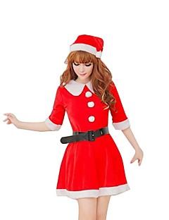 Fest/Feiertage Halloween Kostüme Rot einfarbig Rock / Gürtel / Mützen Weihnachten Frau Plüsch