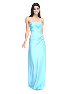 2017 Lanting Bride® Floor-length Satin Elegant Bridesmaid Dress - Strapless with Side Draping