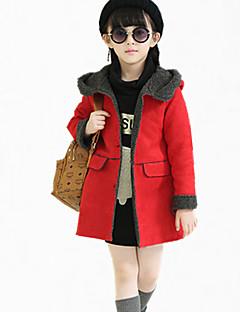 Mädchen Daunen & Baumwoll gefüttert / Anzug & Blazer-Lässig/Alltäglich einfarbig Polyester Winter / Frühling / Herbst Rosa / Lila / Rot