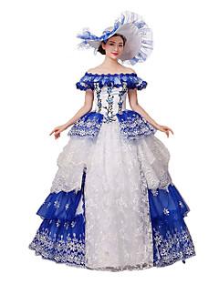 One-Piece/Dress Gothic Lolita / Sweet Lolita / Classic/Traditional Lolita / Punk Lolita Steampunk® / Victorian Cosplay Lolita Dress Blue
