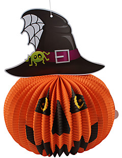 Halloween Props Cosplay Spider Bats Accessories Ghost Witch Stereo Paper Pumpkin Lantern