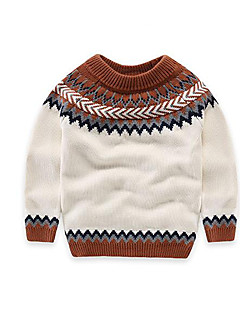 Boy's Casual/Daily Houndstooth Sweater & CardiganCotton Winter / Spring / Fall White / Gray