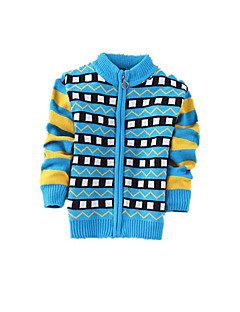Boy's Casual/Daily Print Sweater & CardiganCashmere / Wool Winter / Spring / Fall Blue / Green