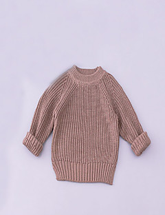 Girl's Casual/Daily Solid Sweater & CardiganCotton Spring / Fall Green / Red / Gray