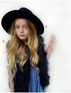 Mädchen Weste-Lässig/Alltäglich einfarbig Kunstpelz Winter / Herbst Schwarz / Rosa / Weiß / Gelb / Beige / Grau