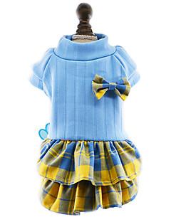 Köpekler Elbiseler Köpek Giyimi Kış İlkbahar/Kış Fiyonk Düğüm Sevimli Moda Yeni Yıl'ınkiler Gül Kırmzı Mavi
