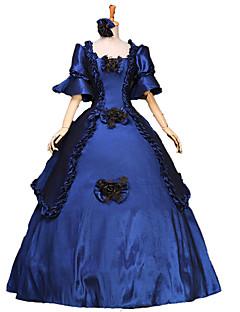 /שמלותחתיכה אחת לוליטה גותי / לוליטה מתוקה / לוליטה קלאסית ומסורתית / לוליטה פאנק Steampunk® Cosplay שמלות לוליטה Musteensininen פרחוני