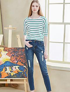 Damen Hose - Street Schick Jeans Baumwolle / Kunstseide / Polyester / Elasthan Mikro-elastisch