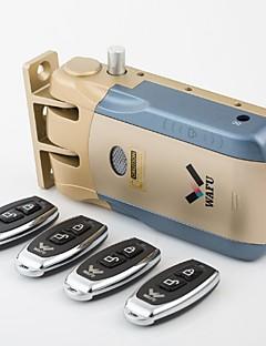 WAFU Keyless Smart Remote Door Lock & Wireless Invisible Anti-theft Lock & Security Door Lock with 4 Remote Keys