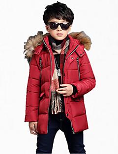 Chlapci Polyester Běžné/Denní Jednobarevné Zima S podšívkou,Dlouhý rukáv Běžný