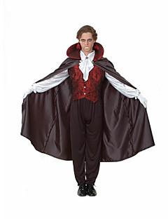 Costumes Zombie / Vampires Halloween Black Solid N/A Top / Pants / Collar / Gloves / Cloak / Hat