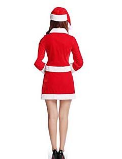 Festival/Højtider Halloween Kostumer Ensfarvet Top Bælte Hatte Shorts Jul Kvindelig Pleuche