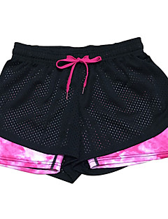 calças de yoga Shorts Calças Respirável Secagem Rápida Compressão Confortável Caído Elasticidade Alta Moda Esportiva Preto MulheresIoga