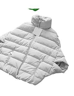 Casual/hétköznapi Egyszerű Kabát-Női Egyszínű Sportos kabátok Poliészter Fehér lúdpehely Hosszú ujj Piros / Fehér / Fekete / Zöld / Sárga