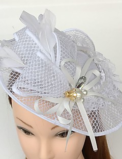 נשים תחרה נוצה זירקונה מעוקבת רשת כיסוי ראש-חתונה אירוע מיוחד קז'ואל קישוטי שיער כובעים חלק 1