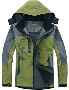 Hiking Softshell Jacket Men's Waterproof / Thermal / Warm / Windproof / Wearable Winter TactelWhite / Red