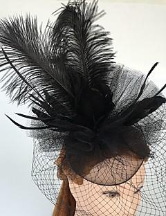 נשים נוצה טול רשת כיסוי ראש-חתונה אירוע מיוחד קז'ואל קישוטי שיער Birdcage Veils חלק 1