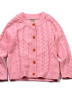 Girl's Casual/Daily Solid Sweater & CardiganCotton Winter / Spring / Fall Orange / Pink / Red