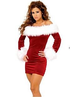 Cosplay Kostuums Rood / Rood & Wit Textiel Binnenwerk Cosplay Accessoires Kerstmis / Carnaval