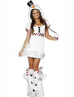 Santa Suits Festival Costumes White Solid Dress / Hat / Leg Warmers Christmas Terylene