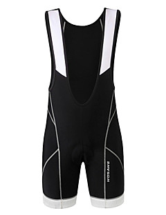 Wosawe® מכנס קצר ביב לרכיבה יוניסקס נושם / 3D לוח / נגד החלקה / מגביל חיידקים אופניים מכנסיים קצרים עם כתפיות / תחתיות ספנדקס / פוליאסטר