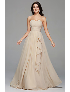 Floor-length Sweetheart Bridesmaid Dress - Sexy Sleeveless Chiffon