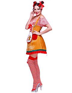 Festival/Feestdagen Halloween Kostuums Geel Effen Top / Rok / Meer Accessoires / Hoofddeksels Kerstmis Vrouwelijk Polyester