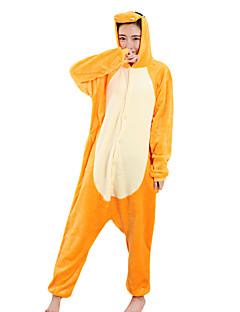 Kigurumi פיג'מות דְרָקוֹן פסטיבל/חג הלבשת בעלי חיים Halloween צהוב טלאים מינק הקטיפה Kigurumi ל יוניסקס / נקבה / זכרהאלווין (ליל כל