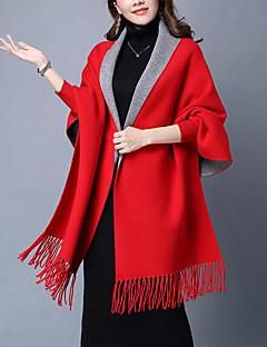 Damer Casual Akryl Halstørklæde-Ensfarvet Rektangulær