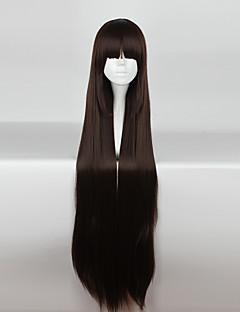 Pelucas de Cosplay Cosplay Cosplay Marrón Largo / Corte Recto Animé Pelucas de Cosplay 110cm CM Fibra resistente al calor Mujer