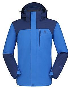 טיולי טבע מעילי רוח לגברים עמיד למים / נושם / שמור על חום הגוף / עמיד / בטנת פליז / לביש / רוכסן YKK חורף פוליאסטר / גיזות כחול / כתוםS /