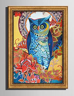 Tier Gerahmtes Leinenbild / Gerahmtes Set Wall Art,PVC Stoff Goldfarben Kein Passpartout Mit Feld For Haus Dekoration Rand Kunst