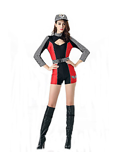 Cosplay Costumes Cosplay Movie Cosplay Red / Yellow Solid Leotard/Onesie / Belt / Hat Halloween / Carnival Female Polyester