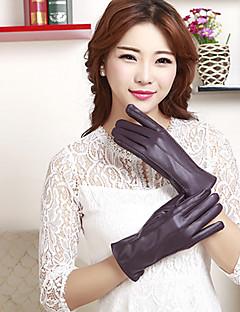 женская длина пу запястья пальцев мило / партии / вскользь способа зимы теплые перчатки