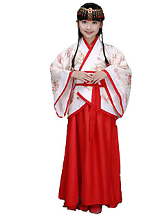 Holiday Jewelry Cosplay Festival/Holiday Halloween Costumes Red Solid Top / Skirt / Headwear Kid