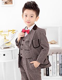 Polyester Costume de Porteur d'Alliance  - 4 Pièces Comprend Veste / Chemise / Pantalons / Nœud papillon / Longue Cravate