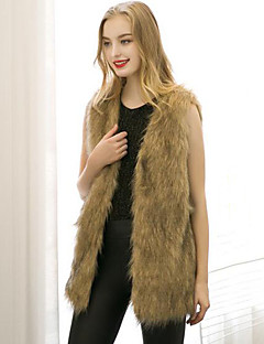 Women's Wrap Vests Faux Fur Wedding Party/Evening Office & Career