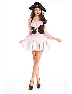 Cosplay Kostuums Feestkostuum Gemaskerd Bal Piraat carrière Kostuums Festival/Feestdagen Halloweenkostuums Zwart Roze Print  Kleding Hoed