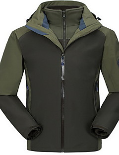 Hiking Tops Men's Waterproof / Thermal / Warm / Windproof / Insulated / Comfortable Spring / Fall/Autumn / Winter TeryleneRed / Black /