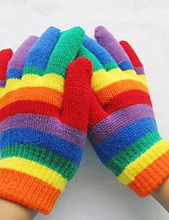 unisex alcance de poliéster comprimento de pulso, inverno ocasional do arco-íris