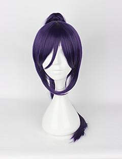 Perucas de Cosplay Amar viver Fantasias Púrpura Médio Anime Perucas de Cosplay 50CM CM Fibra Resistente ao Calor Unissexo