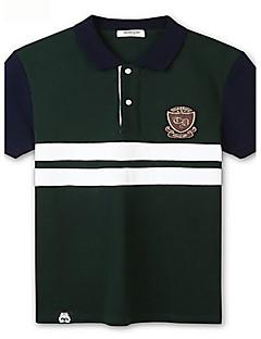 Trenduality® Herren Hemdkragen Kurze Ärmel T-Shirt Dunkelgrün-43058